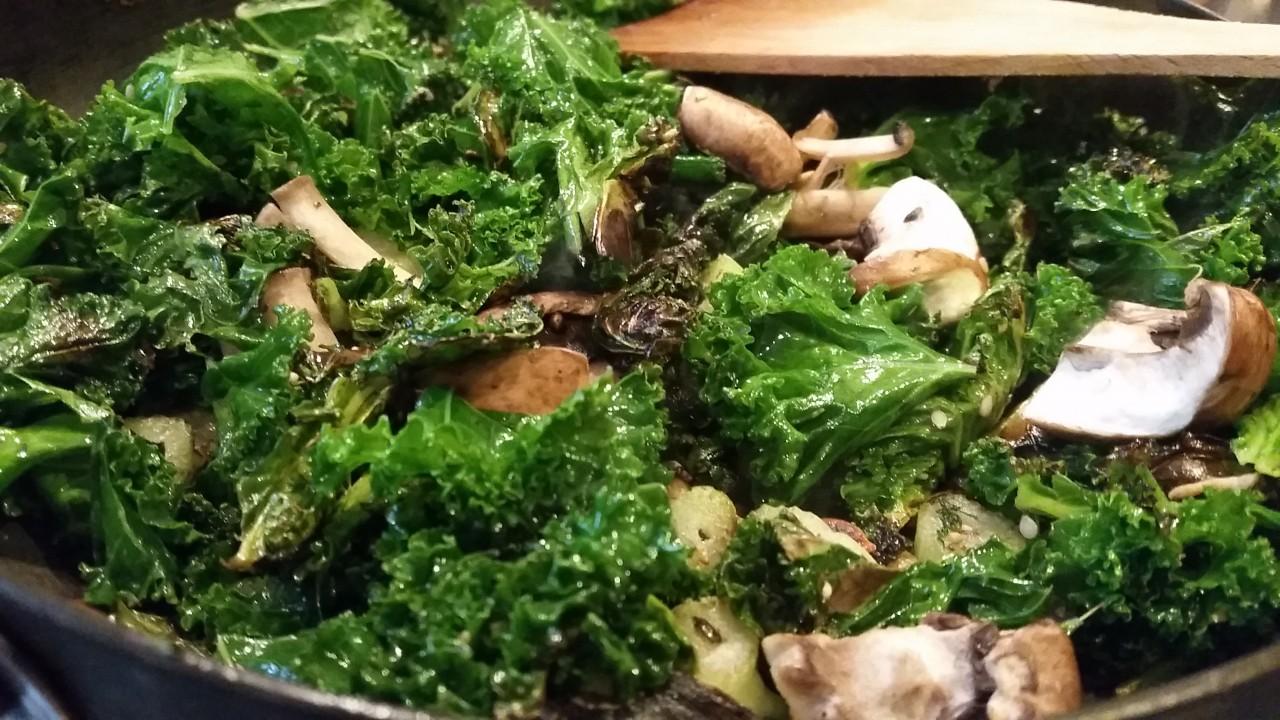 Kale, Fennel and Mushroom Saute